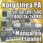 Korg Pa 50/60/80/500/800/1x/1xpro - Manual En Español