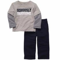 Carters Conjunto Frio, Camisa Ml, Pantalon, Niño, 24 Meses