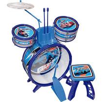 Mini Bateria Infantil De Brinquedo Hot Wheels Original Fun