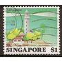 Singapur Faro Ex Colonia Inglesa 1v.usado Año 1982