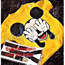 Camisa Blusa Camiseta Fantasia Infantil Mickey Mouse