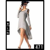 471 Vestido Con Lindo Corte Transversal Y Escote En Espalda