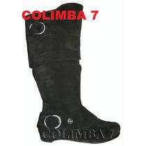 Blaque Botas De Montar Cuero Negro Caña Arrugada Nueva N°37