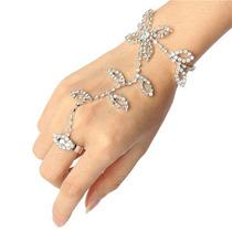 Luva De Cristal Metal Noiva 15 Anos Strass O Par