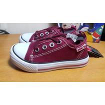 Zapatos Tenis Para Bebe Color Vinotinto Unisex