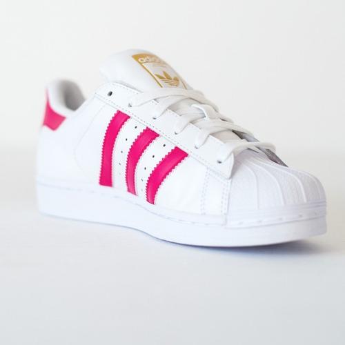 adidas superstar rosas y blancas