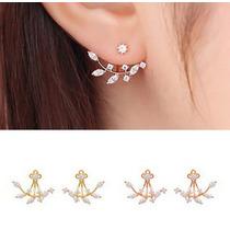 Brinco Feminino Ear Jacket Ear Cuff Pedra Zircônia