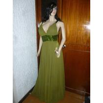 Vestido Verde Largo- Talla 12- Marca Mundo Novia