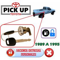 89-95 Toyota Pick Up Chapa Para Tapa De Gas Con Llaves