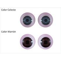 Ojos Reales Para Armado De Muñecos De 12mm
