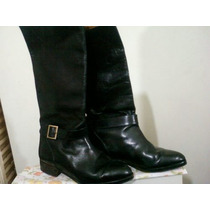 Botas De Cuero Mujer,caña Alta Nº38, Impecables, Caña 35cm,