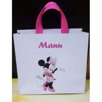 30 Sacolinhas Personalizada Minnie Ou Minnie Baby 21x17x5
