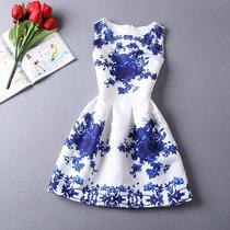 Vestido Feminino Floral Sem Mangas Gola O Frete Fixo Importa