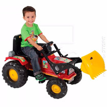 Big Trator Infantil Farmer C/ Pá Pedal Luzes Buzina - Biemme