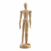 Boneco Articulado Madeira 20cm - Desenho Moda Arte Mangá
