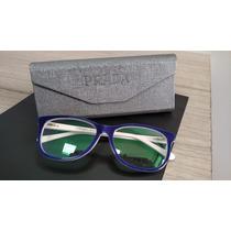 Armação Feminina Gatinho Vpr18p Azul Óculos De Grau