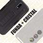 Funda Protector Uso Rudo + Cristal Templado Moto G4 Plus