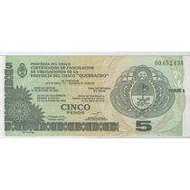 Billete Bono Chaco 5 Pesos Sin Circular