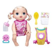 Boneca Loira Vamos Passear Baby Alive Hora Do Passeio B6048