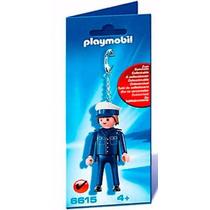 Playmobil Set 6615 Llavero Policia De Ciudad Motociclista Js