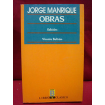 Vicente Beltrán, Ed., Jorge Manrique. Obras.
