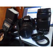 Camara De Fotos Reflex Canon T3i + Lentes + Flash + Accesori