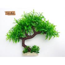 Árvore Bonsai Artificial 28cm Aquário E Enfeite Decorativo