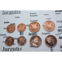 Islas Malvinas Lote De 4 Monedas Sin Circular