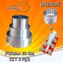 Forma Para Bolo Torta 10 Cm Em Alumínio Kit 3 Pçs + Brindes