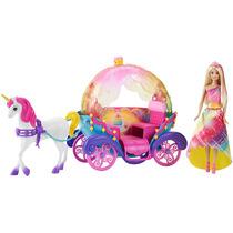 Barbie Reino De Arcoíris Princesa, Caballo Y Carruaje