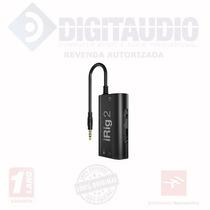 Ik Irig 2 Interface Para Guitarra Fender Gibson Ipad Iphone