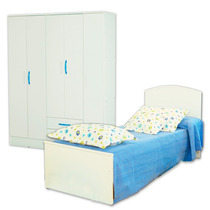 Juego Dormitorio Cama Infantil Fiona + Placard 25 Mosconi