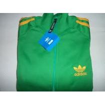 Camperas Adidas Retro - Verde Con Amarillo Ver Mas Colores