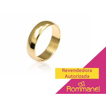 Rommanel - Par De Alianças Lisas Meia Cana Larga - 510892