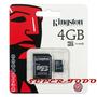Micro Sd 4 Gb Hc Clase 4+ Adaptador Sd Blister Kingston Gtía