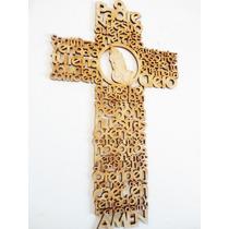 Cruz Oración Padre Nuestro En Mdf 30 Cm Recuerdos Bautizo
