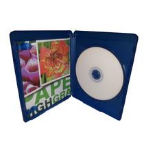 Box Case Estojo Blu-ray Caixa Capa Azul Logo Cromado 10 Unid