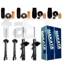 4 Amortecedores Nakata + Kits Ford Fiesta Street 2001/2007