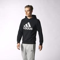 Poleron Negro Con Capucha Adidas Hombre Original Y Nuevo