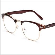 Óculos De Grau - Rayban Clubmaster - Marrom Réplica- Ray-ban