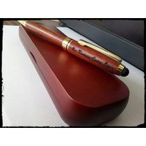 Boligrafo De Madera Con Estuche Grabado Laser Personalizado