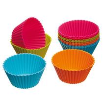 Kit 24 Mini Formas Silicone Cupcake Muffins Forminhas