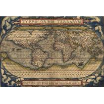 Mapa Mundi Hd Grande Vintage Decorar Século 16 Sedex Grátis