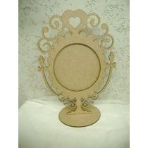 Moldura20cm Espelho Branca De Neve Alice Princesa Maça Coraç