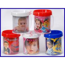 Taza Plastica Porta Foto - Souvenir Infantil Precio X 10