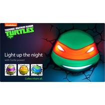 Lámpara 3d Deco Light Tortugas Ninja Miguel Ángel Y Su Arma
