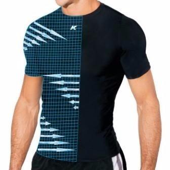 Camisa Térmica Kanxa Alta Compressão Manga Curta - R  37 e469729d3dacf