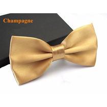 Gravata Borboleta Dourada Com Regulador Adulto E Infantil