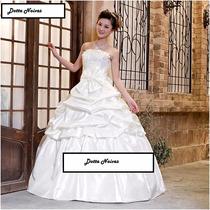 Vestido De Noiva Princesa Tomara Que Caia Com Véu