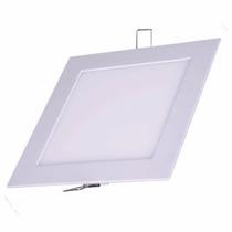 Luminária Plafon Led 12w Painel Quadrado Embutir Teto Gesso